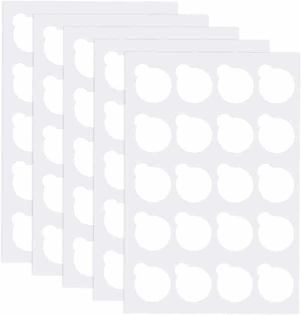 Stickers pour pierre de jade ou support extensions de cils